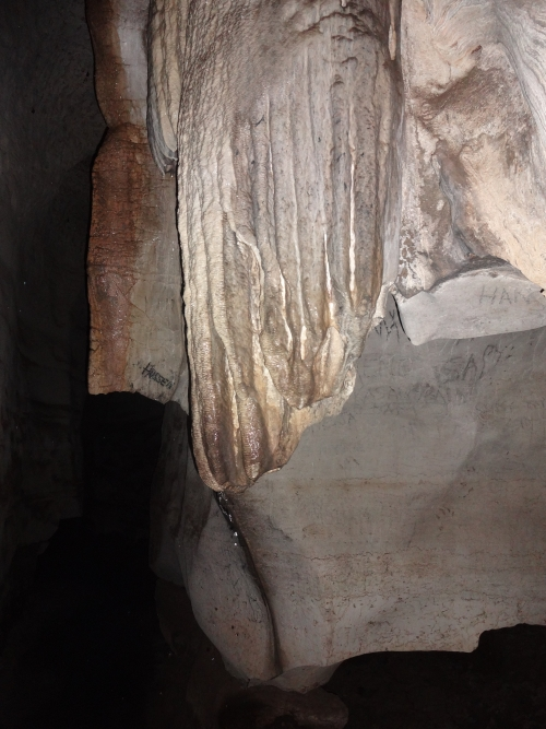 LIMESTONE CAVE. n. A cave formed in limestone. DEAD CAVE. n. A cave without streams, pools or drips of water. A more correct term to use would be dormant cave.